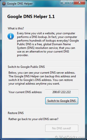 Google DNS Helper