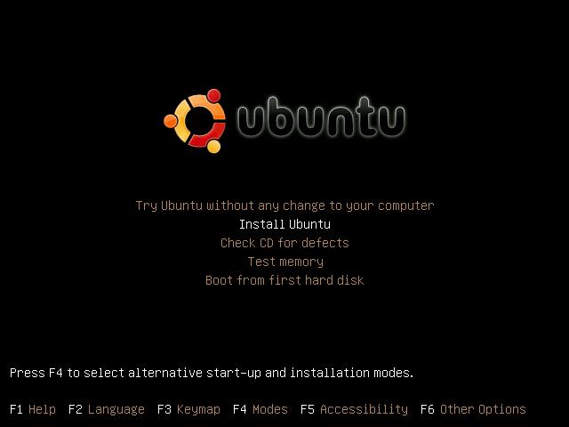 Ubuntu Installation window