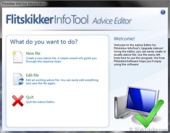 Flitskikker InfoTool Advice Editor