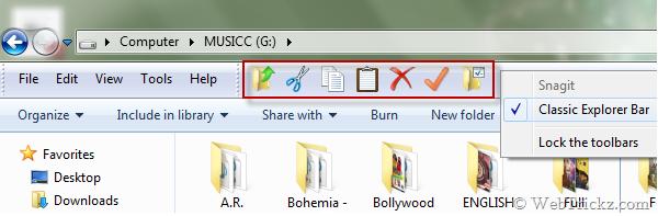 Classic Explorer Toolbar