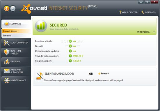 Avast Internet Security 5.1.889 AvastInternetSecurityscreenshot1.png