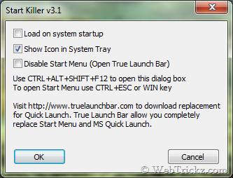 Start Killer settings