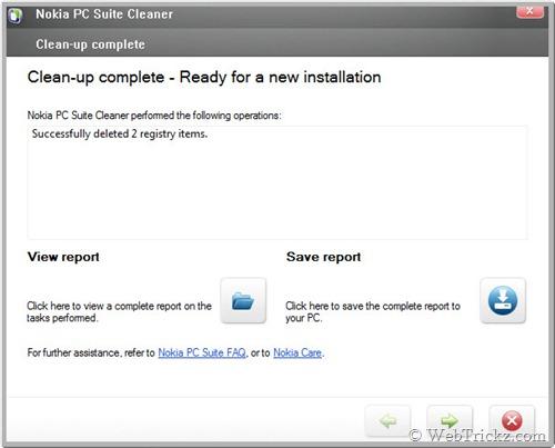 Nokia PC Suite Cleaner