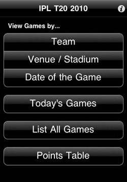 IPL 2010 iPhone App