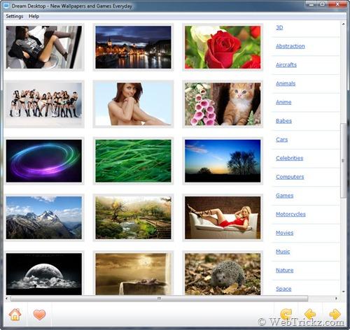 Dream Desktop categories