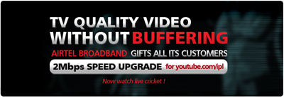 Watch IPL online at 2Mbps on Airtel