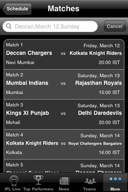 IPL match schedule