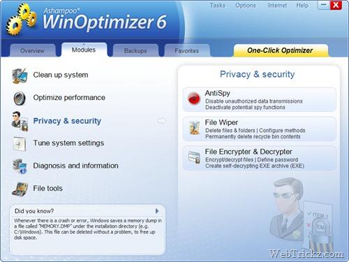 Ashampoo WinOptimizer 6