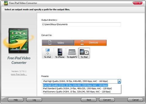 Convert videos to ipad format