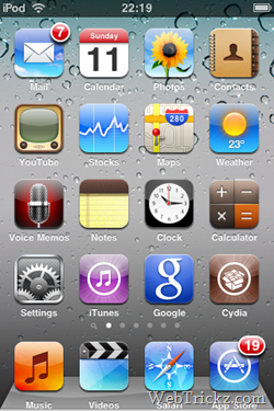 iPhone OS 4.0 wallpaper with dock