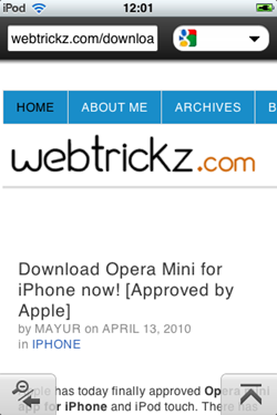 webtrickz on opera mini