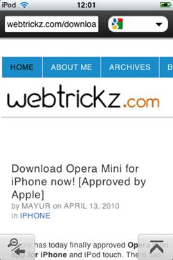 webtrickz on opera mini