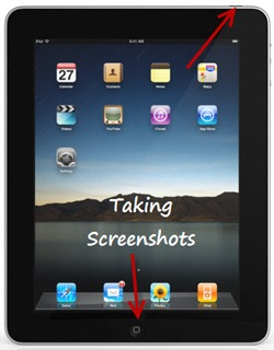 Taking screenshot in iPad