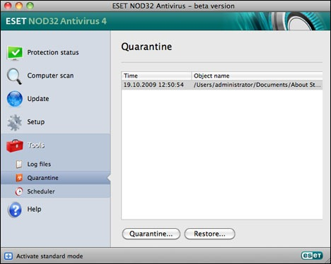 ESET NOD32 Antivirus for Mac