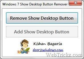 remove show desktop button