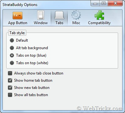 StrataBuddy options