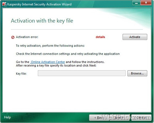 activate kaspersky 2011 using key file