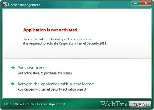 Activating Kaspersky 2011