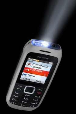 nokia c1_grey with flashlight