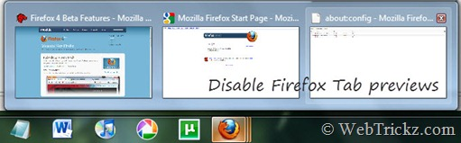 Firefox tab previews in Windows 7