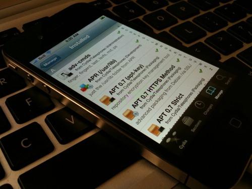 Cydia on iPhone 4