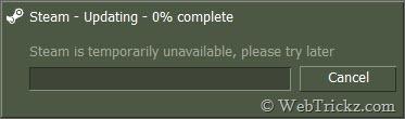 error - steam not updating