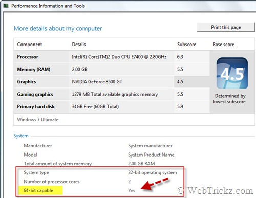 check 64-bit capability in windows
