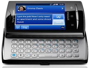 Xperia X10 mini pro_FrontOpen_Black