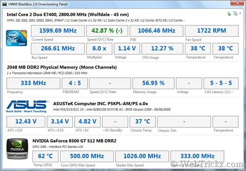 HWM BlackBox_Overclocking Panel