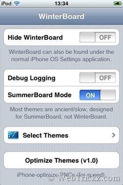 Winterboard app