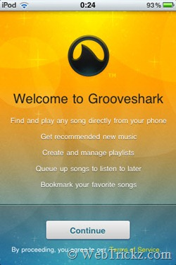 Grooveshark for iOS