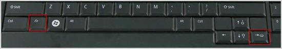 Fn key + Right Arrow key