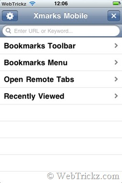 xmarks_iphone bookmarks