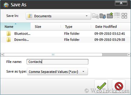 save csv file