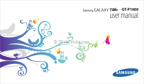 Samsung Galaxy Tab GT-P1000 User Manual