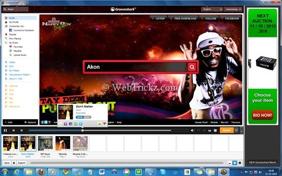 Grooveshark application for Windows