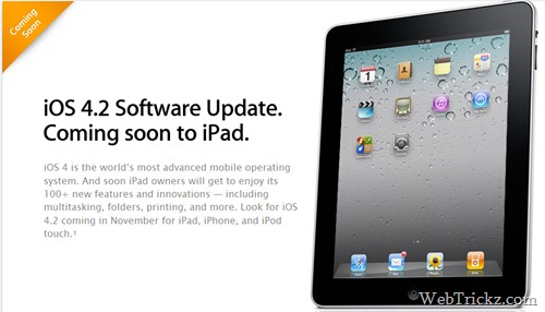 iOS 4.2 for ipad