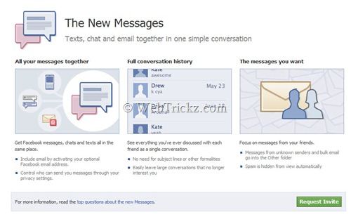 Facebook Social Messaging