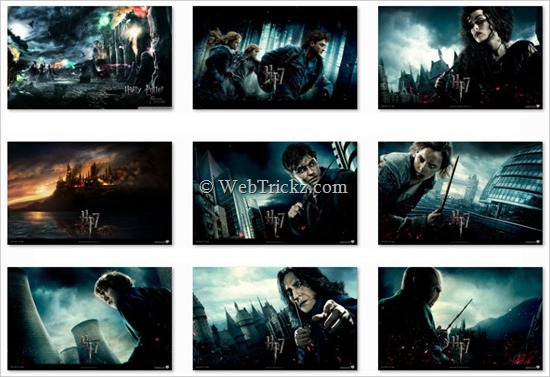 Harry Potter and the Deathly Hallows_Windows 7_Theme