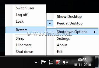 show desktop & aero peek