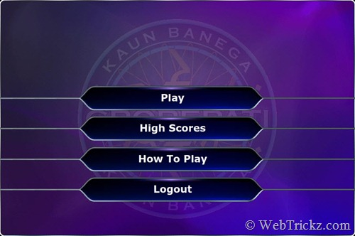 Play KBC online game
