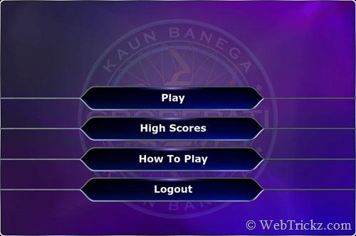 Play KBC online game