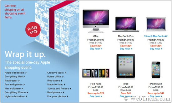 Friday's special shopping event_Apple