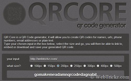 QR Core - QR code generator
