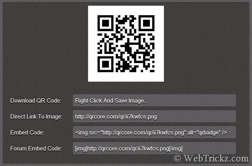 generates QR code