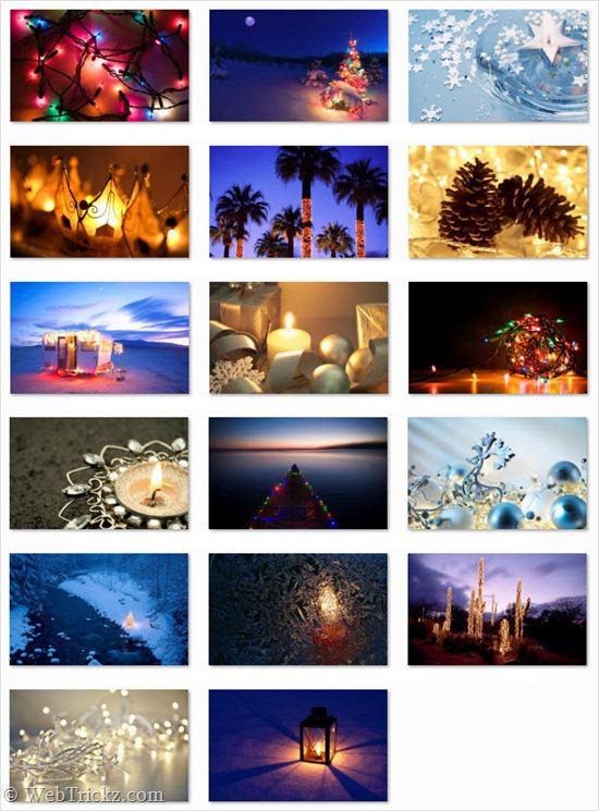 holiday lights_windows 7 theme