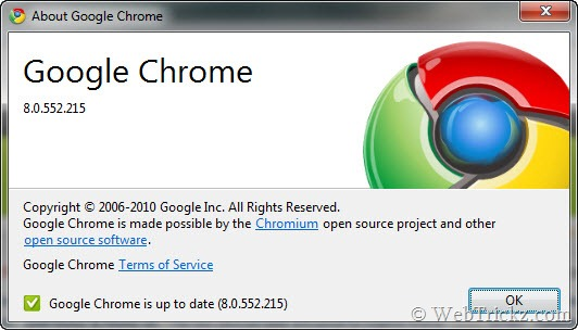 Google Chrome 8.0