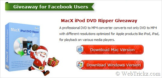 MacX iPod DVD Ripper giveaway