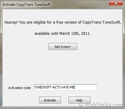 CopyTrans TuneSwift_Activate