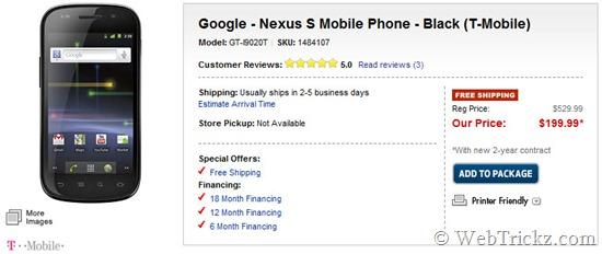Nexus S T-Mobile contract